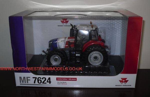 UNIVERSAL HOBBIES 1/32 SCALE MASSEY FERGUSON 7624 (FRENCH FLAG) LIMITED EDITION