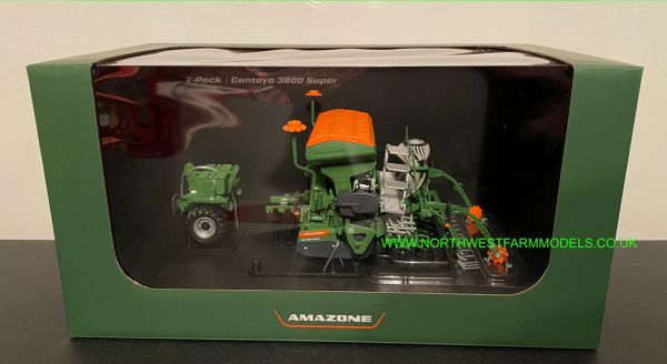 UNIVERSAL HOBBIES 5384 1:32 SCALE AMAZONE CENTAYA 3000 SUPER SEED DRILL WITH FRONT T-PACKER