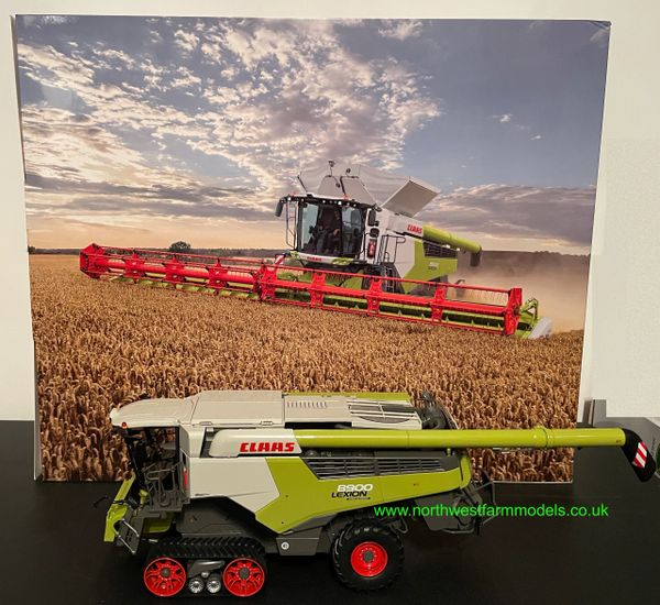 MARGE MODELS 1:32 SCALE CLAAS LEXION 8900TT COMBINE HARVESTER WITH GRAIN HEADER LIMITED EDITION