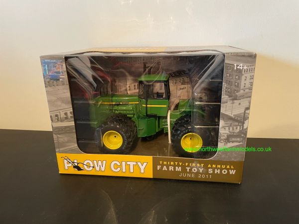 ERTL 1:32 SCALE JOHN DEERE 8850 4WD PLOW CITY FARM TOY SHOW EDITION
