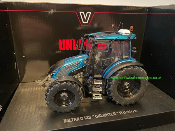 UNIVERSAL HOBBIES 6294 1:32 SCALE VALTRA G135 UNLIMITED TURQUOISE LIMITED EDITION