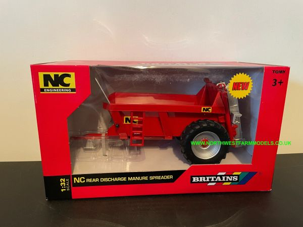 BRITAINS FARM 1:32 SCALE 43181 NC REAR DISCHARGE MANURE SPREADER