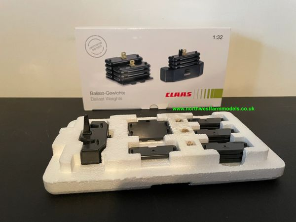 WIKING 1:32 SCALE CLAAS BALLAST WEIGHT SET
