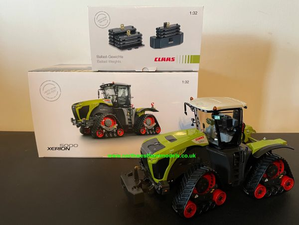 WIKING 1:32 SCALE CLAAS XERION 5000 TRAC TS LIMITED EDITION WITH CLAAS BALLAST SET