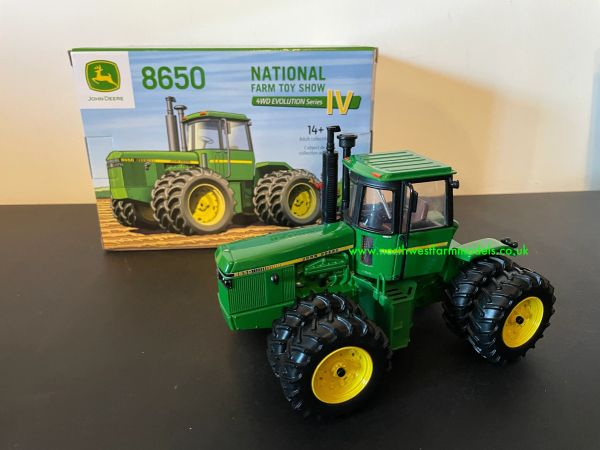 ERTL 1:32 SCALE JOHN DEERE 8650 ARTICULATED TRACTOR FARM TOY SHOW EDITION