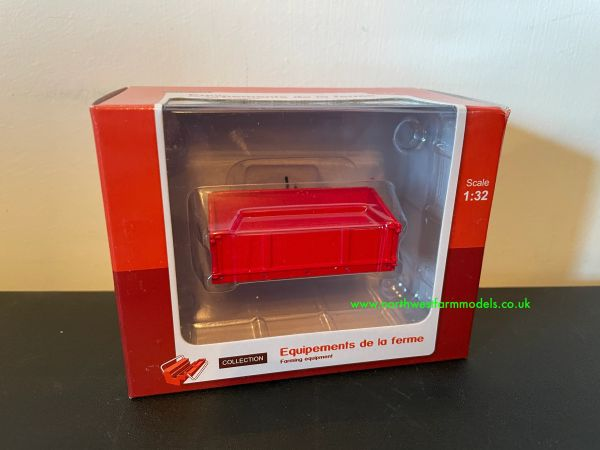 UNIVERSAL HOBBIES 9615 1:32 SCALE TIPPING TRANSPORT BOX (RED)