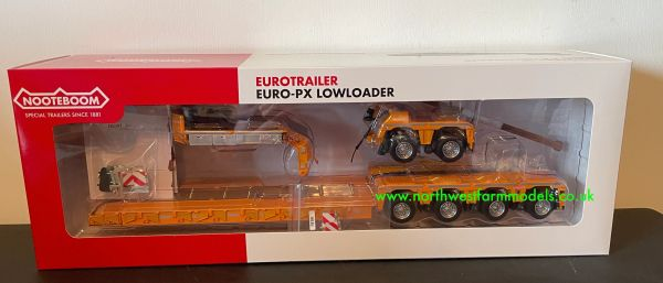 MARGE MODELS 1:32 SCALE NOOTEBOOM EURO LOW LOADER WITH INTER DOLLY (YELLOW)