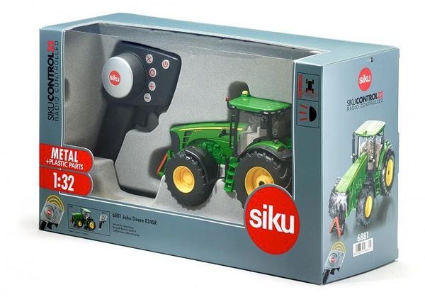 SIKU CONTROL 1/32 SCALE 6881 JOHN DEERE 8345R TRACTOR WITH REMOTE CONTROL