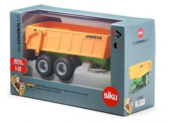 SIKU CONTROL 1/32 SCALE 6780 JOSKIN TANDEM AXLE TIPPING TRAILER