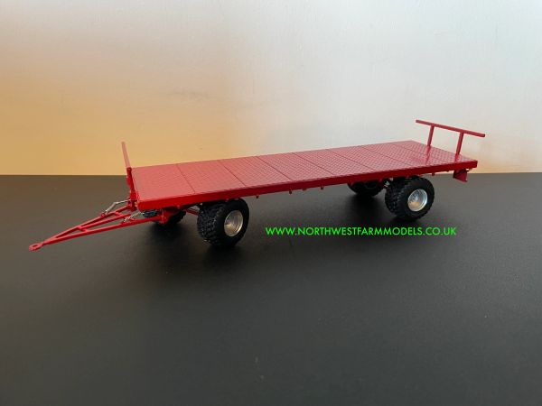 MARGE MODELS 1:32 SCALE FLATBED TRAILER - RED