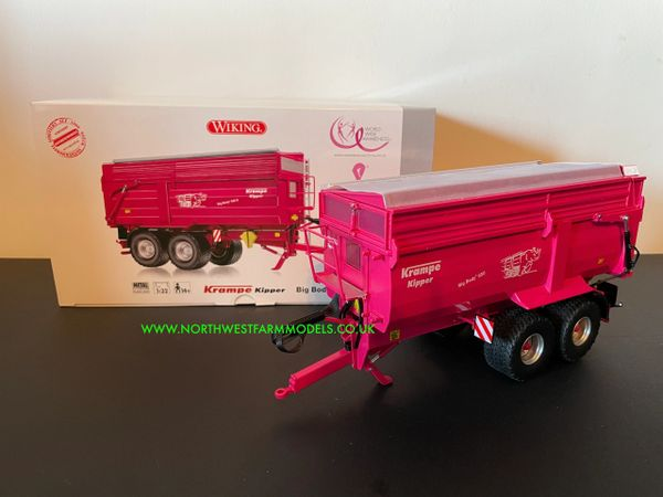 WIKING 1:32 SCALE KRAMPE BIG BODY 650 TIPPING TRAILER PINK LIMITED EDITION