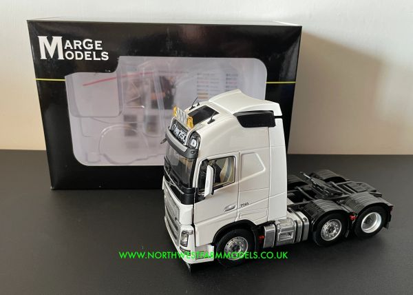 MARGE MODELS 1:32 SCALE VOLVO FH16 6X2 CLEAR WHITE