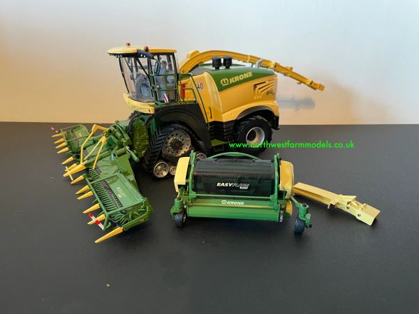 ROS 1:32 SCALE KRONE BIG X 1180 TRACKED WITH MAIZE AND GRASS HEADER LIMITED EDITION