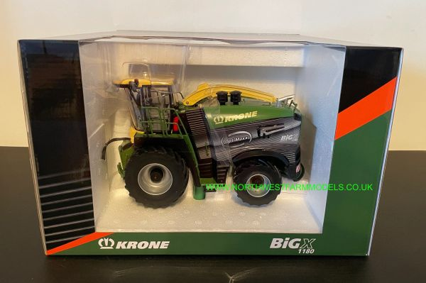 ROS 1:32 SCALE KRONE BIG X 1180 OPTIMAXX FORAGE HARVESTER WITH GRASS AND MAIZE HEADER LIMITED EDITION