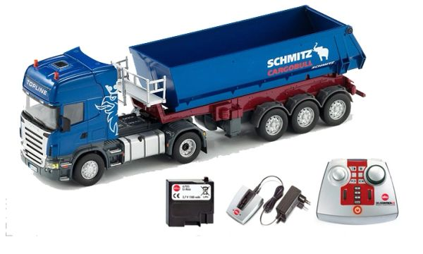 SIKU CONTROL 1/32 SCALE 6725 SCANIA R 620 WITH SCHMITZ CARGOBULL TIPPING TRAILER (INCLUDES REMOTE CONTROL)