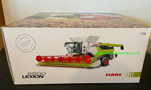 MARGE MODELS 1:32 SCALE CLAAS LEXION 6900TT COMBINE HARVESTER WITH GRAIN HEADER AND TRAILER