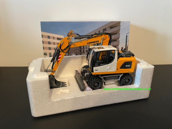 AT COLLECTIONS 1:32 SCALE LIEBHERR A916 WHEELED EXCAVATOR - NOKIAN VERSION