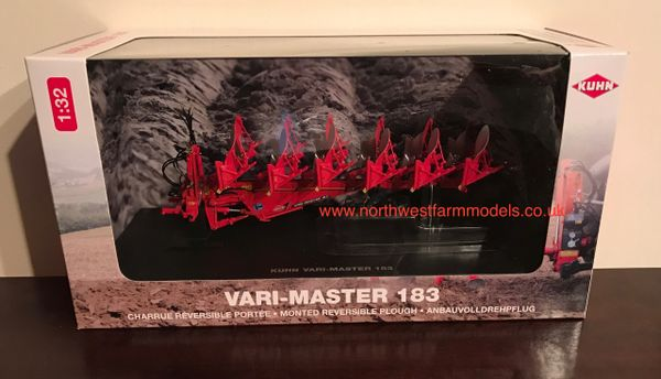 UH4978 UNIVERSAL HOBBIES 1/32 SCALE KUHN VARI-MASTER 183 6 FURROW PLOUGH (DEALER BOX)