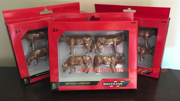 40963 BRITAINS FARM 1/32 SCALE JERSEY CATTLE (3 COWS AND 1 BULL)