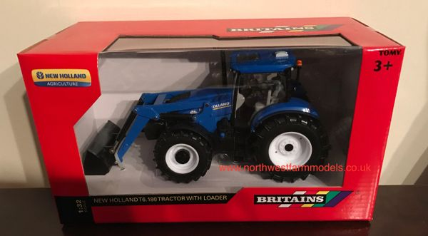 43148A1 BRITAINS FARM 1/32 SCALE NEW HOLLAND T6.180 WITH LOADER ***NEW**