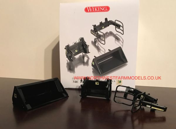 WIKING 1/32 SCALE LOADER ATTACHMENTS (3) **BLACK**