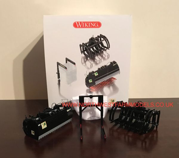 WIKING 1/32 SCALE LOADER ATTACHMENTS BLACK (3)