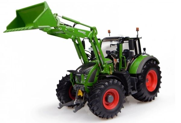 UH4975 UNIVERSAL HOBBIES 1/32 SCALE FENDT 722 VARIO WITH FRONT LOADER *NEW NATURE GREEN COLOUR**