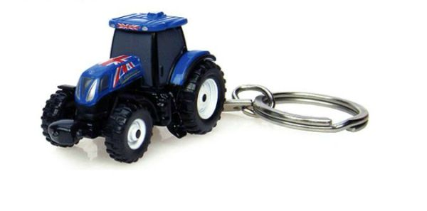 UNIVERSAL HOBBIES NEW HOLLAND T7.210 UK FLAG KEYRING