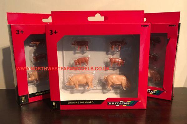 BRITAINS FARM 1/32 SCALE LARGE WHITE PIGS 40966