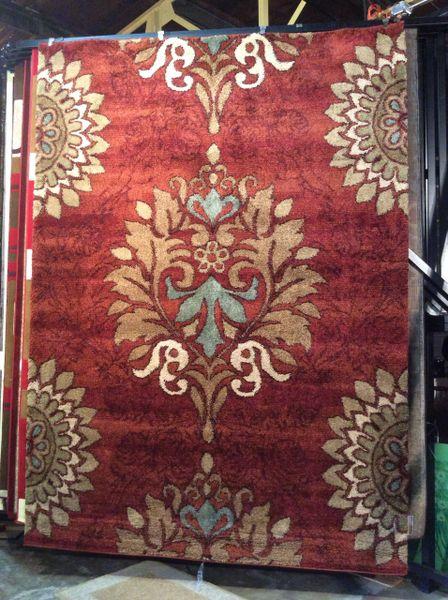 Magnolia terra cotta plush 8x11 machine-made rug