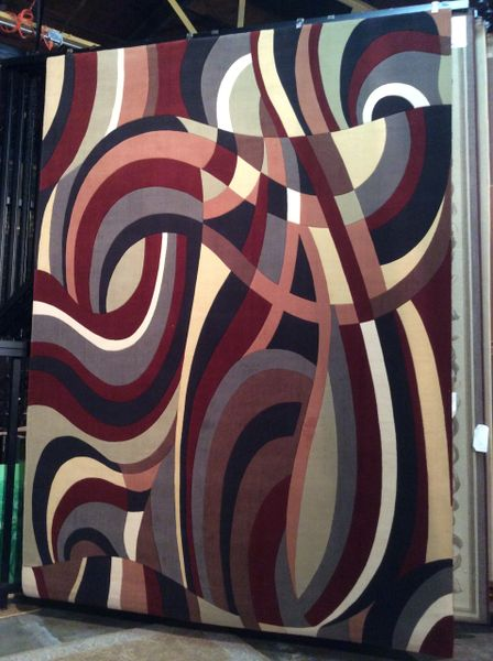 Red Picasso Style 8x11 Rug