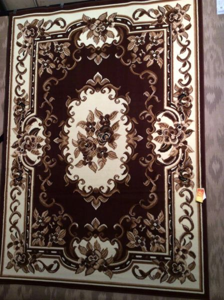 8x11 Brown french aubusson