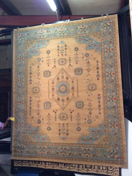 Blue Antique Persian Rug Design 8x11 Rug