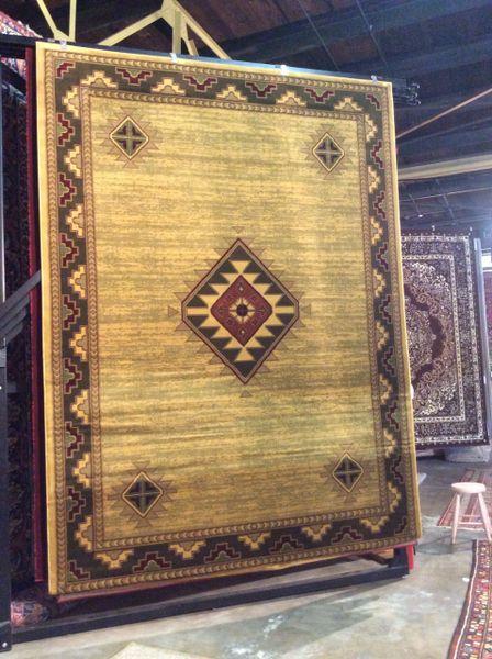 Native American style 8x11 machine made rug