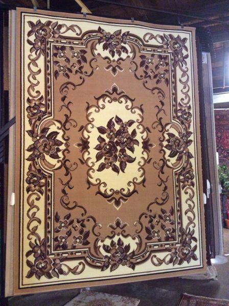 Creme French Aubusson design 8x11 machine-made rug