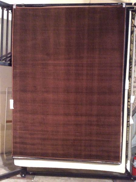 Chocolate solid 5x8 machine-made rug