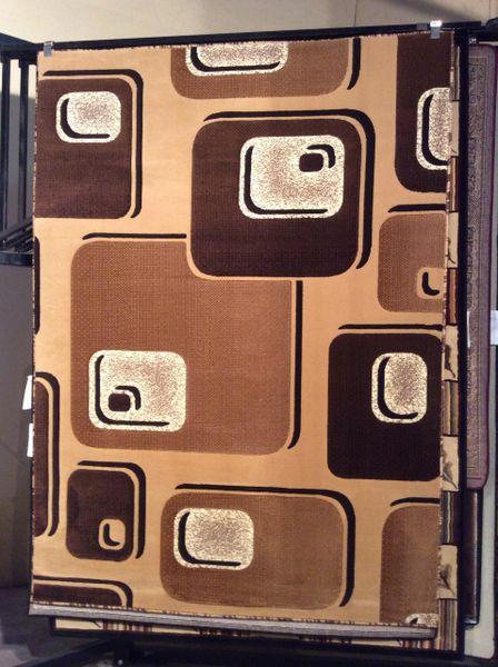 Creme 3-D 5x8 machine-made rug