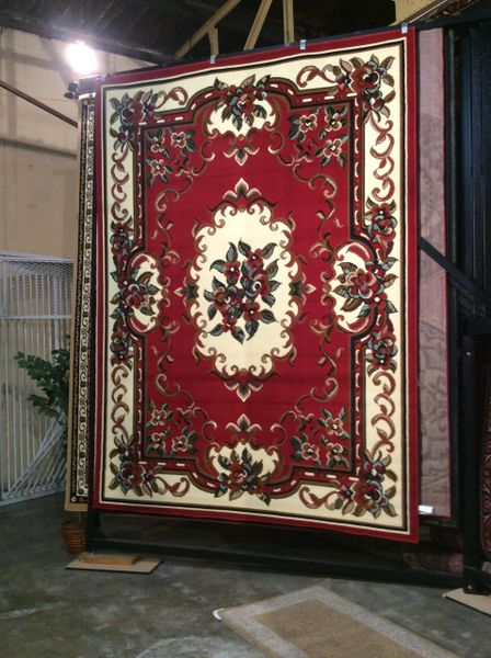 Red French Aubusson Rug