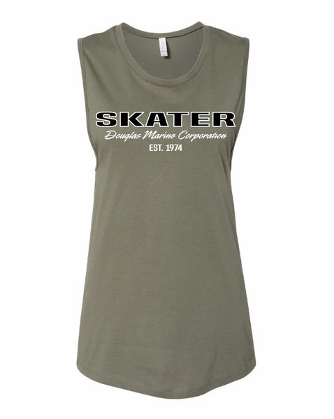 Military Green Jersey Muscle Tank