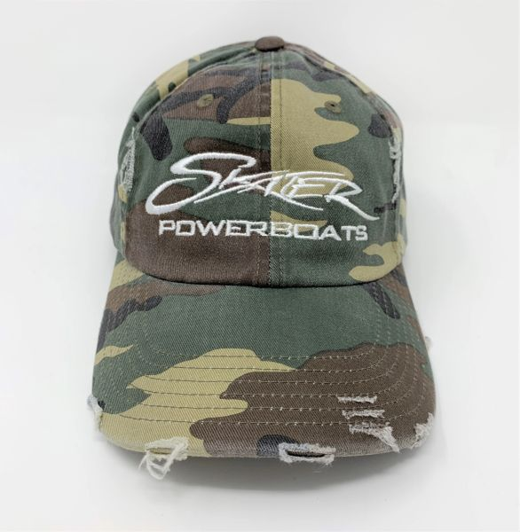 Camo Unstructured Distressed Cap