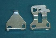 "1 pair ROLLEASE Roller Window Shade STANDARD R8 LOCKING CLUTCH BRACKETS 3/8"" Tab"