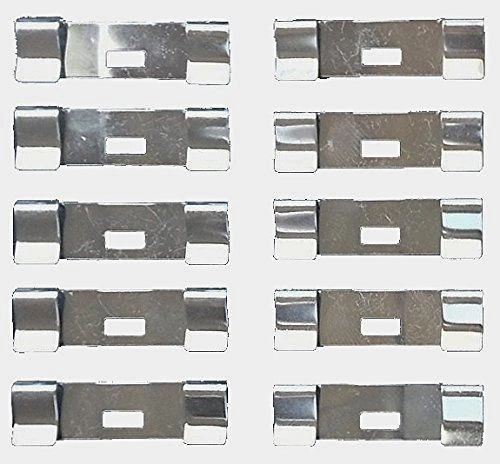 VERTICAL BLIND Vane Saver REPAIR CLIPS - Flat Style (10-Pack) - Unpainted