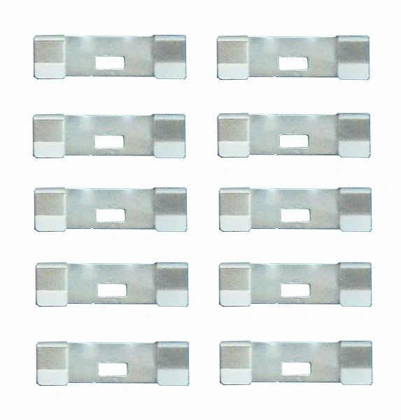 10 Pack VERTICAL BLIND Vane Saver UNPAINTED Zinc CURVED REPAIR CLIPS ~ Fixes Broken Holes