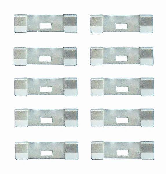 10 Pack VERTICAL BLIND Vane Saver UNPAINTED Zinc CURVED REPAIR CLIPS ~ Fixes Broken Holes