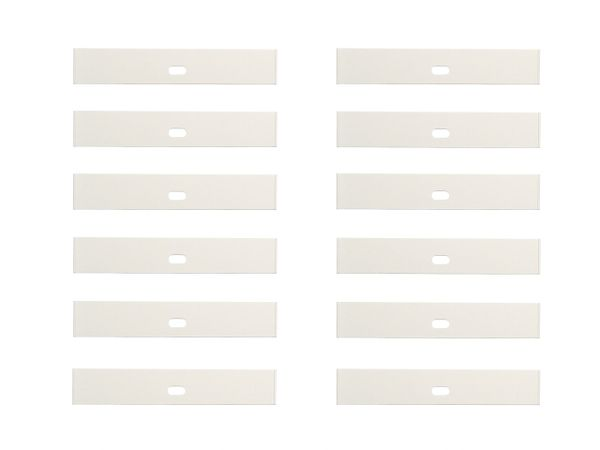 12 ea VERTICAL BLIND INSERTS for Top Pocket on FABRIC VANES with Weights & Chain