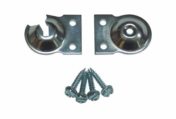 Heavy Duty INSIDE MOUNT FOOTLESS Brackets for Standard Roller Window Shades (1-Pair)