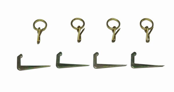 TIE-BACK Tenter Hooks & Pin-on Rings (4-Pack)