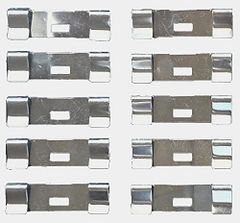100 Pack Vertical Blind Vane Saver Repair Clips - Flat Style