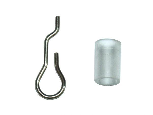 "TILT WAND WIRE & COLLAR SET for Horizontal WOOD or MINI BLINDS - 1 1/2"" Headrail (Single)"