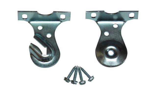 Heavy Duty CEILING MOUNT Brackets for Standard Roller Window Shades (1-Pair)